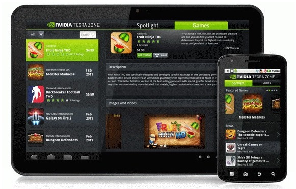 Nvidia TegraZone-disponibila pe toate gadget-urile Android