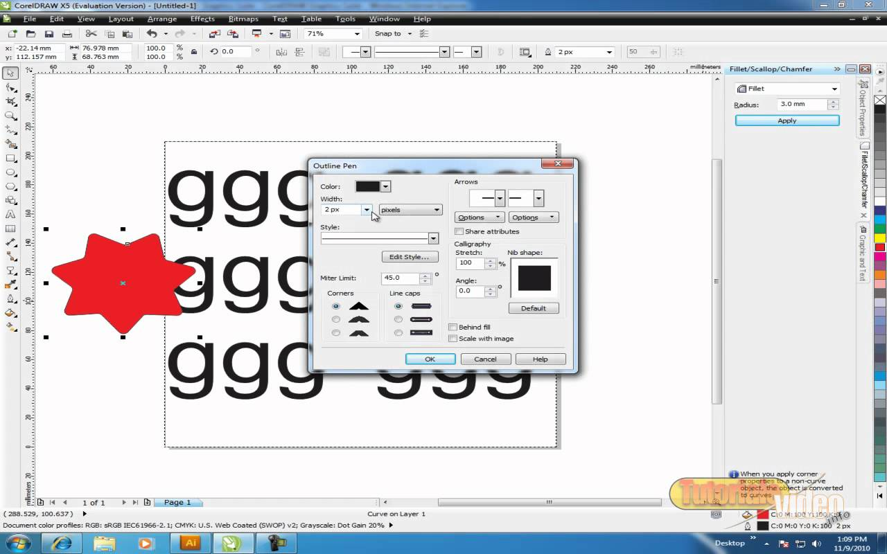 Cum introducem Textu in Corel Draw