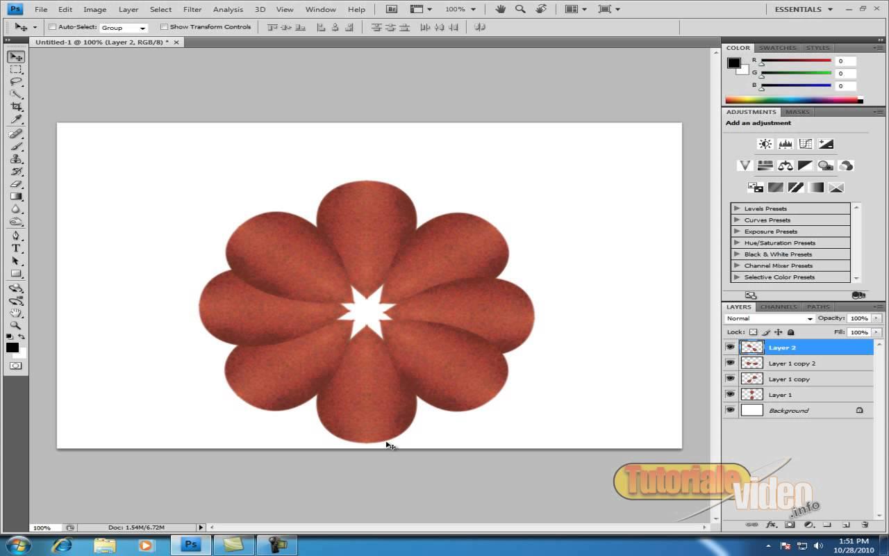 Creaza o floare in photoshop