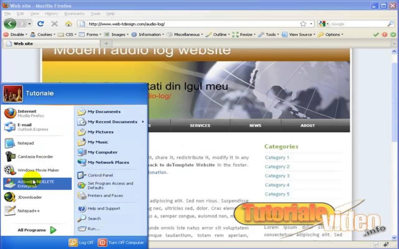Creaza primul tau website