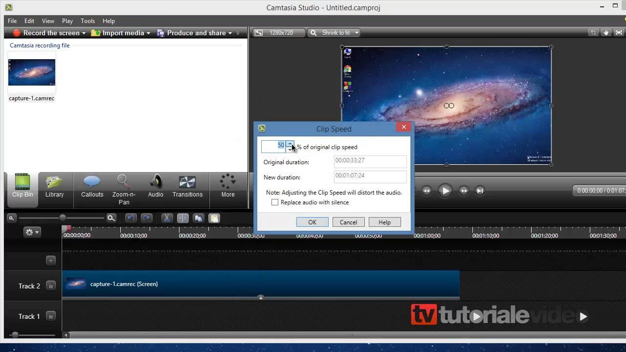 Cum se mareste sau micsoreaza viteza unui clip video
