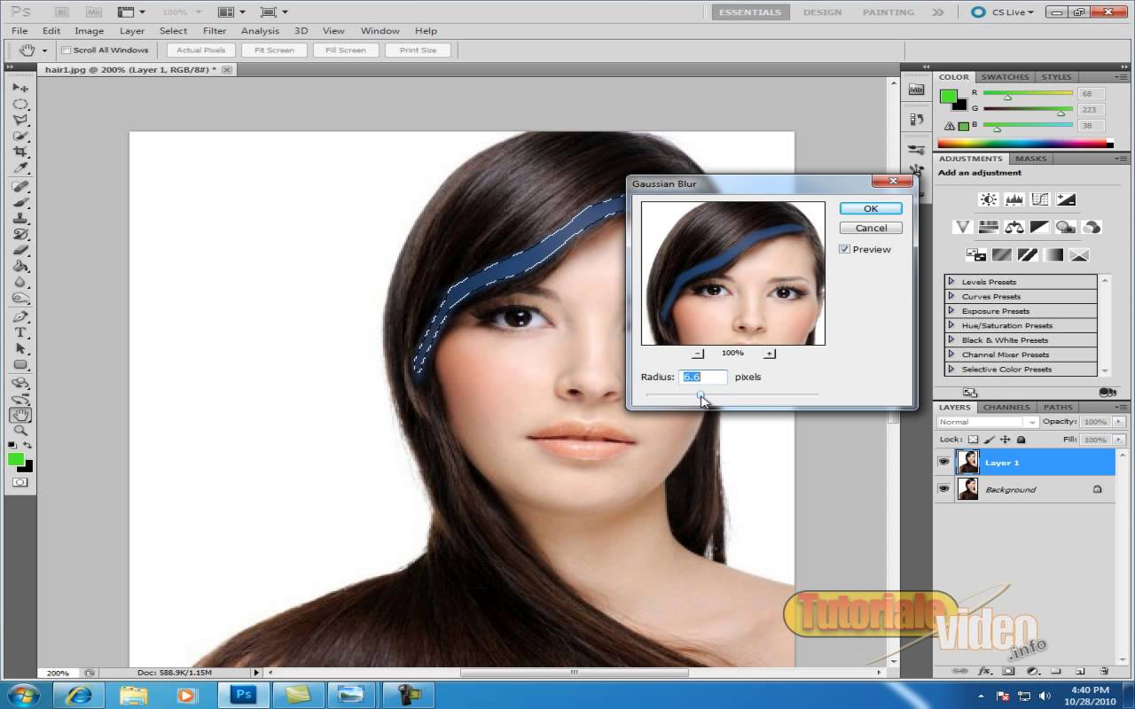 Cum Vopsim parul cu ajutorul Photoshop