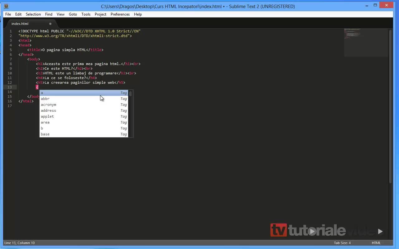 Curs HTML Incepatori – Lectia 3