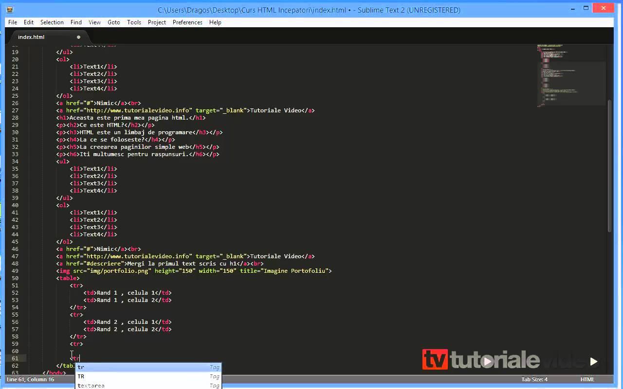Curs HTML Incepatori – Lectia 6
