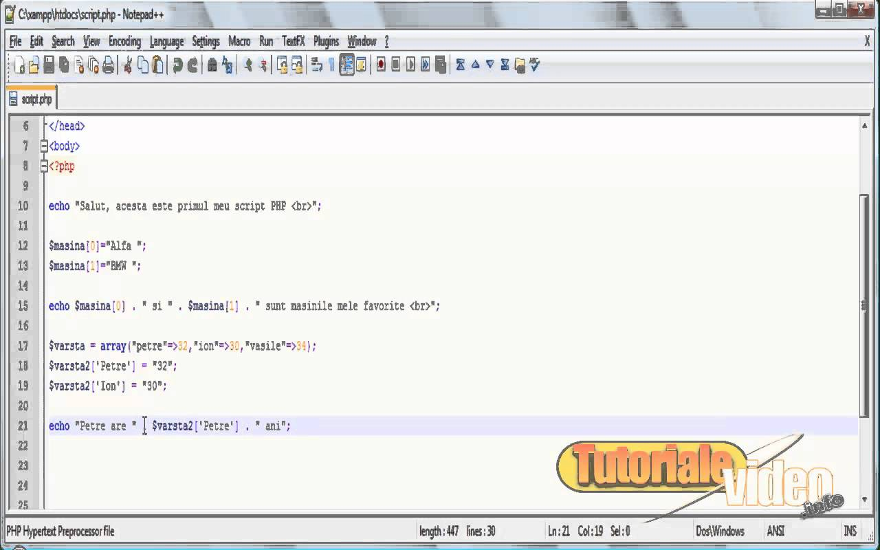 Curs video php nr. 9