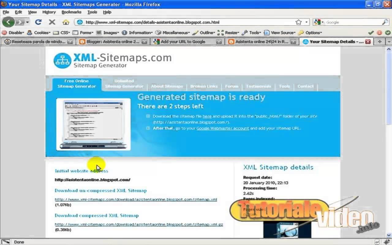 Despre google webmaster tools