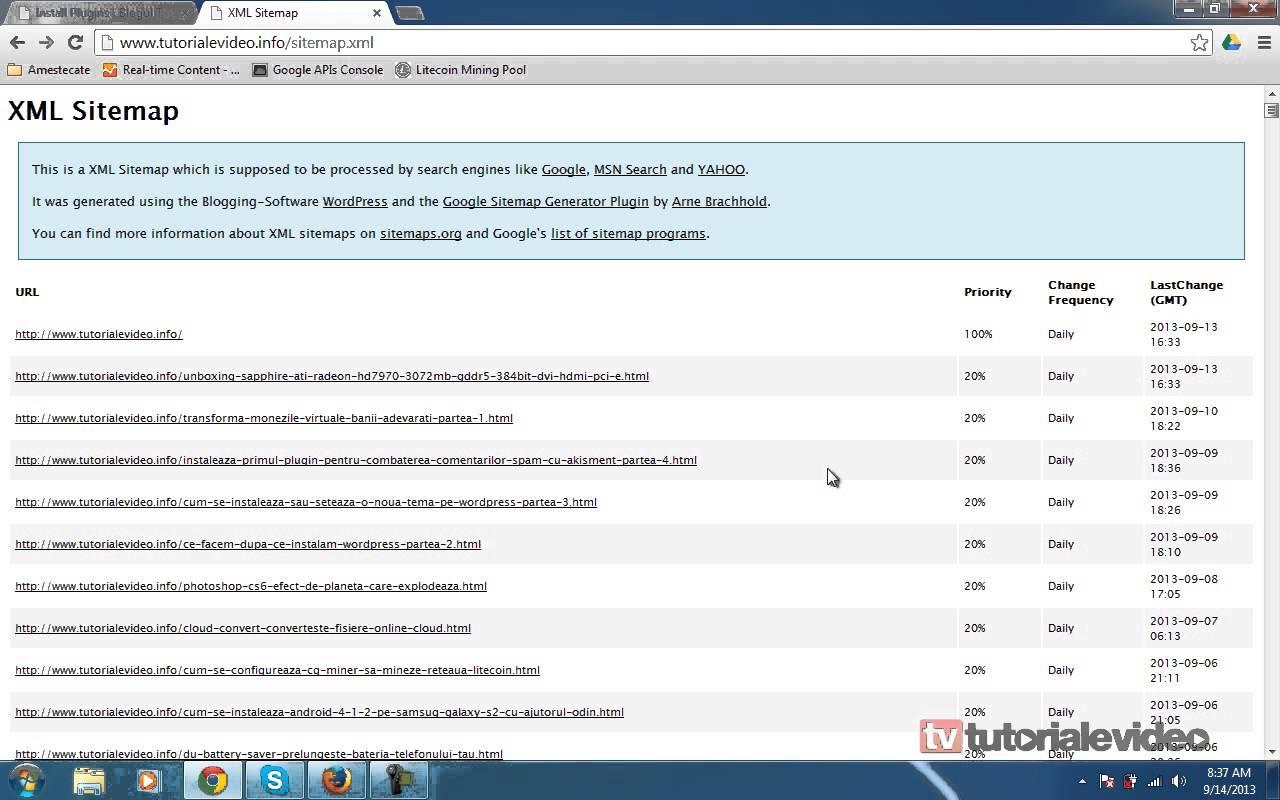 Instalare si setarea unui sitemap in wordpress