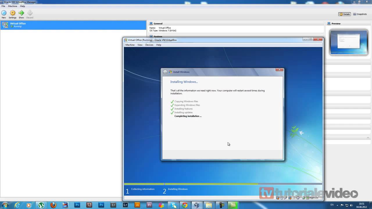 Instalare Windows 7 pe virtual pc