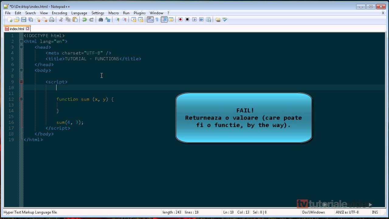 JavaScript – 8 – functii (I)