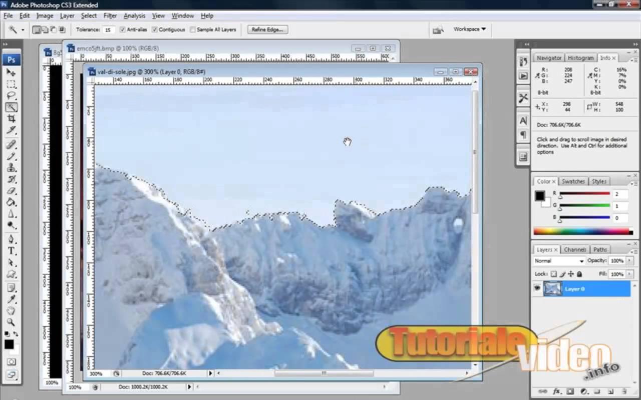 Modificarea imaginilor si aplicarea mask-urilor in Photoshop