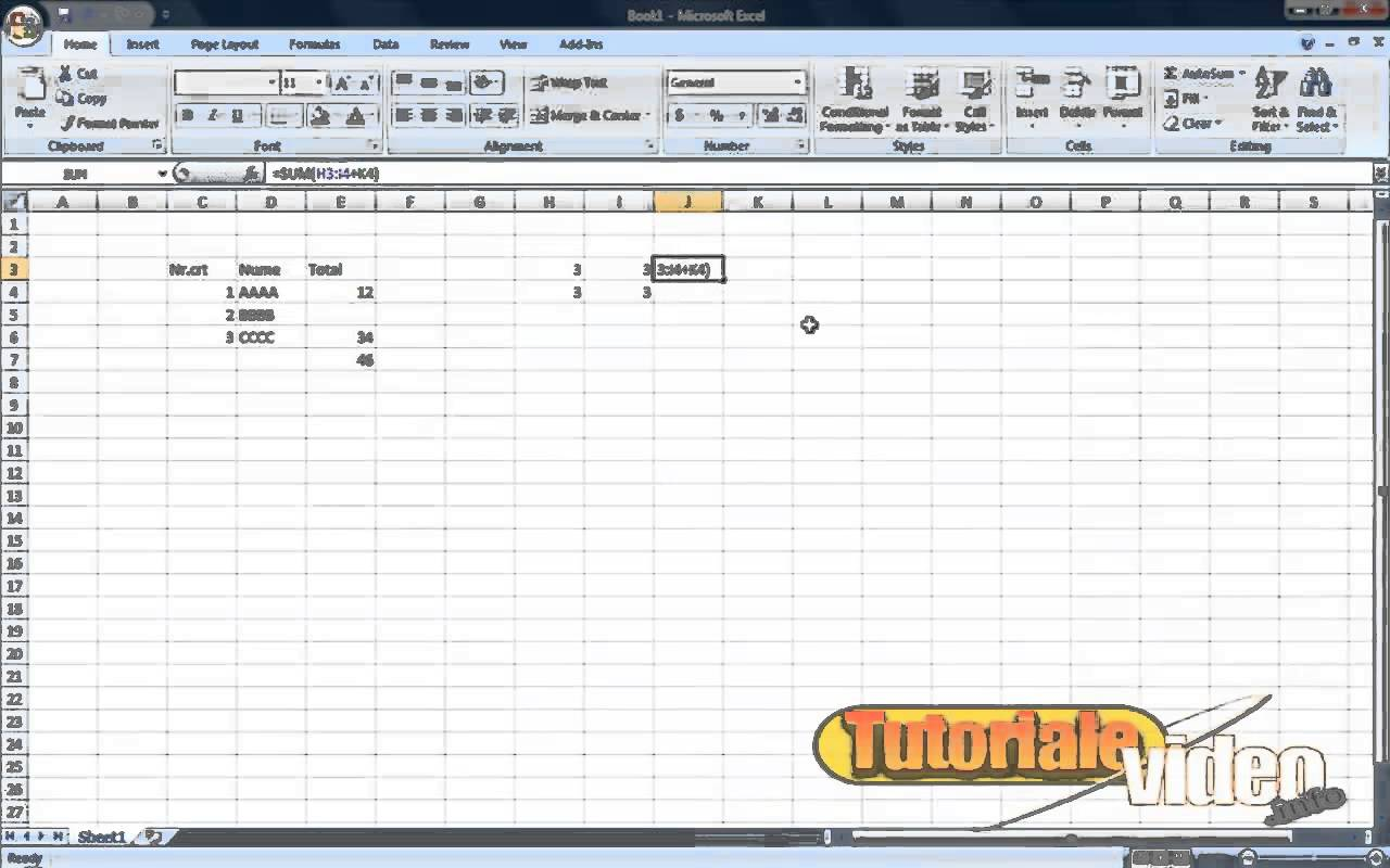 MS Excel – lectii basic