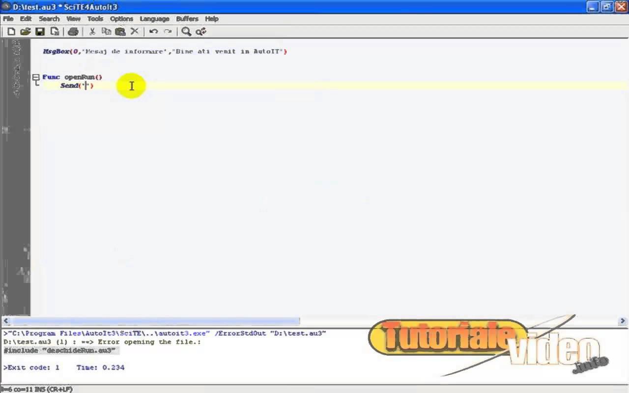 Programare windows de tip basic cu AutoIT