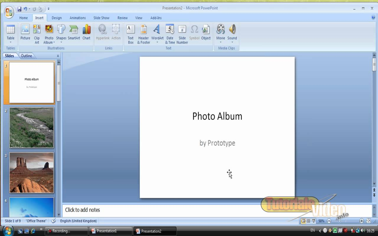 Realizeaza un slide show in Power Point