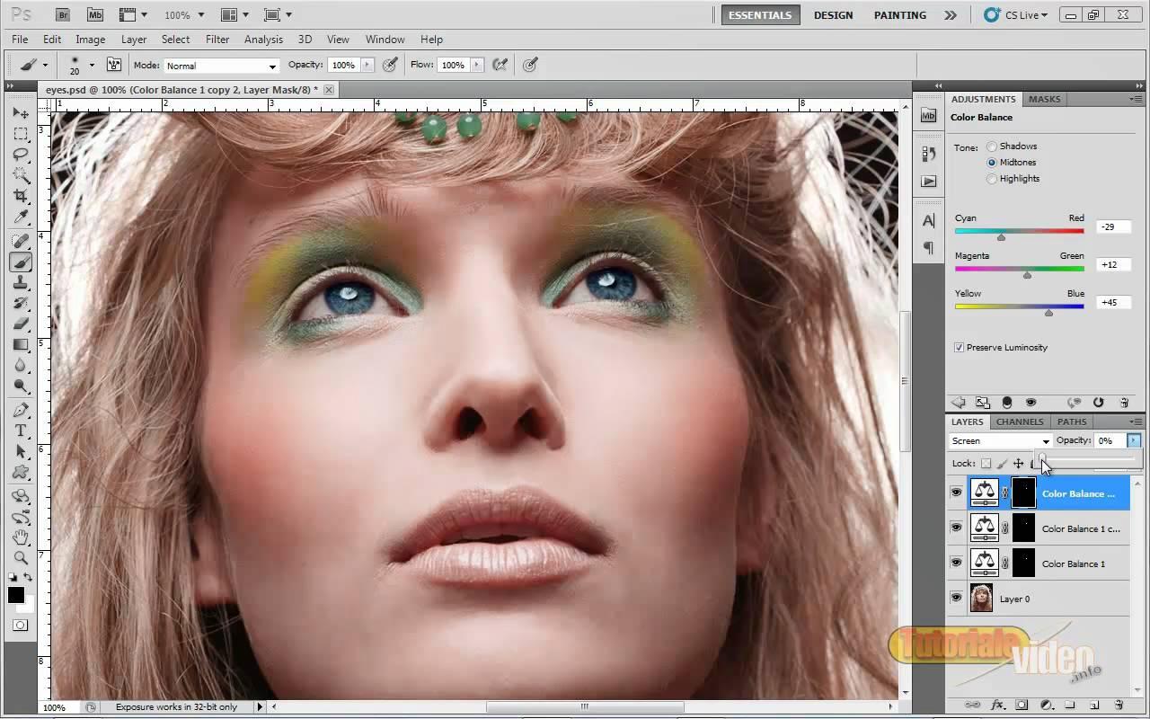 Tutorial Fashion Touch – Culoare si tonalitate Ochi si Buze – Photoshop