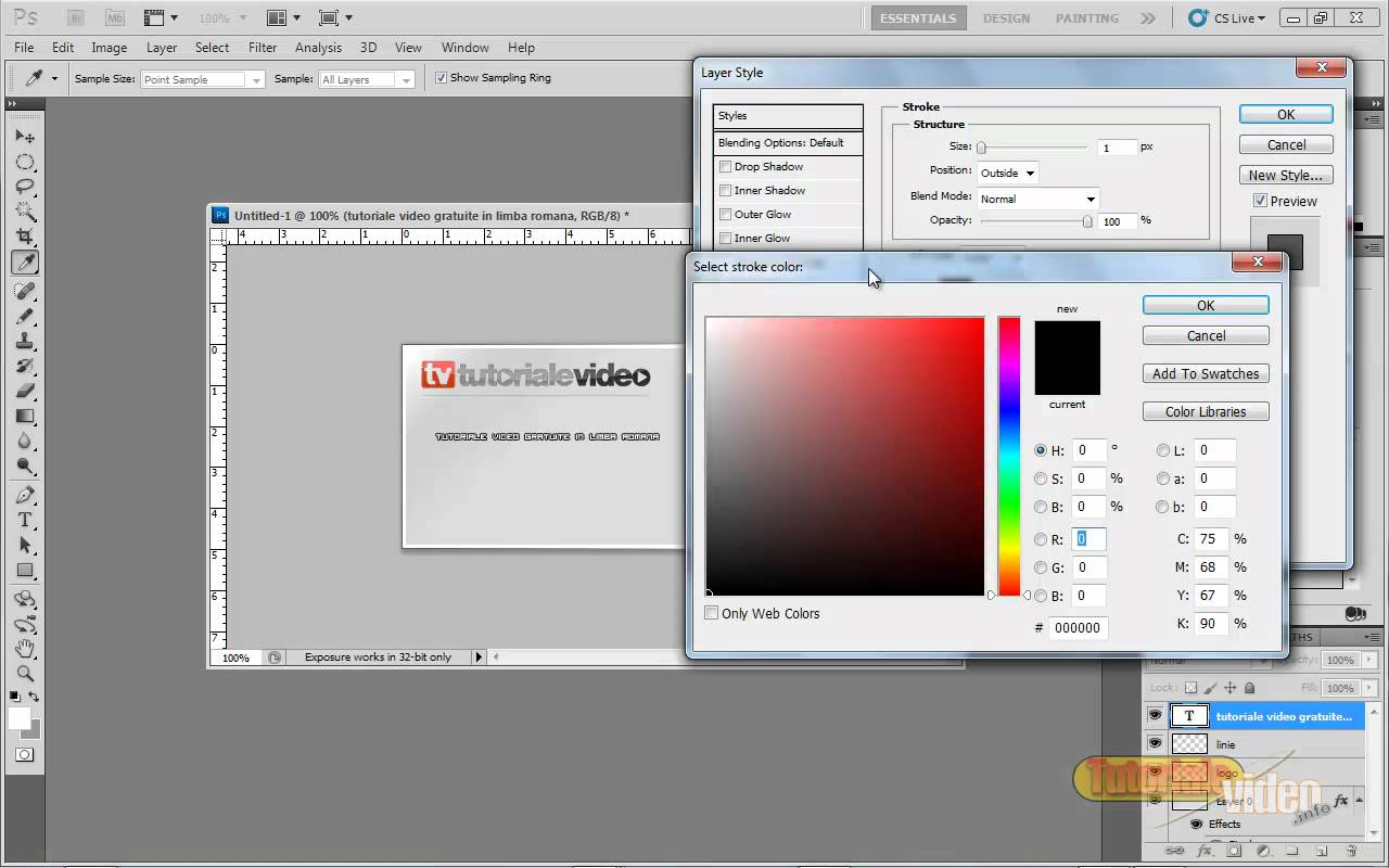 Tutoriale Video Photoshop Creaza o carte de vizita