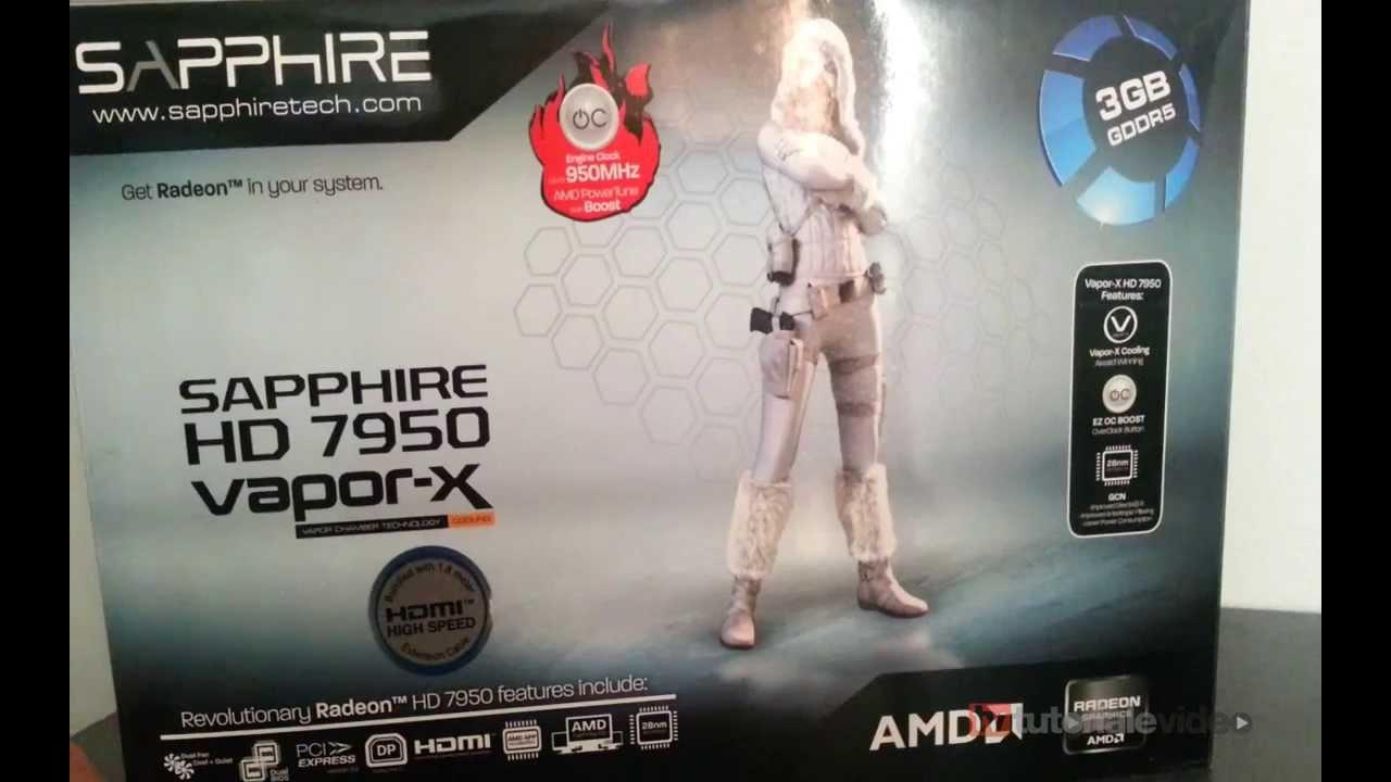 Unboxing Sapphire Radeon HD7950 Boost Vapor-X HD 3GB DDR5 384-bit litecoin project