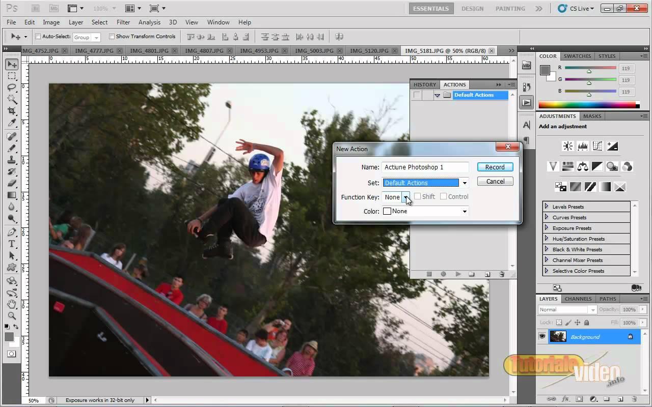 Utilizarea modulului Actions in Photoshop