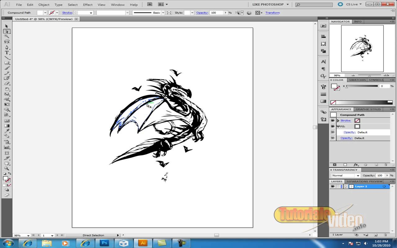 Vectorizeaza O imagine Cu adobe illustrator