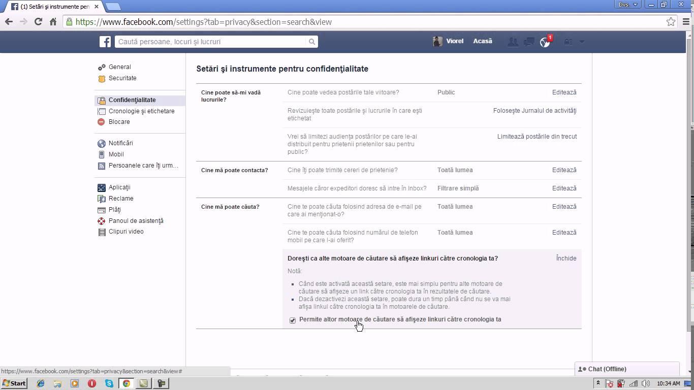 Cum ascundem profilul de facebook de motoarele de cautare?