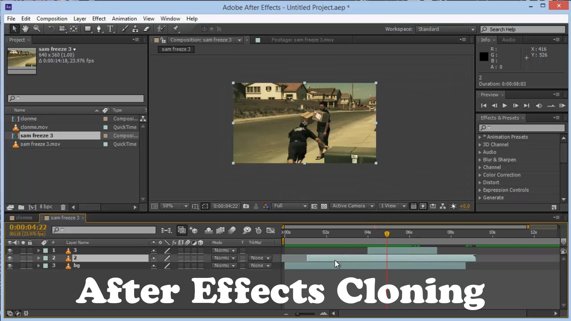 Cum ne clonam in After Effects?
