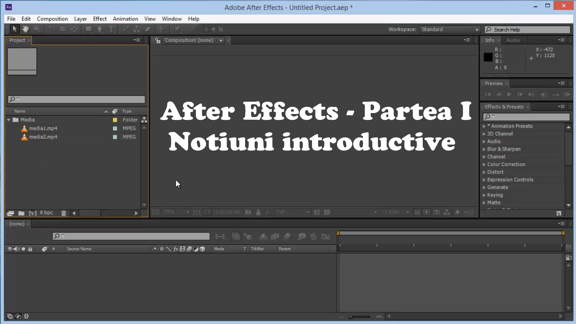 After Effects – notiuni de baza