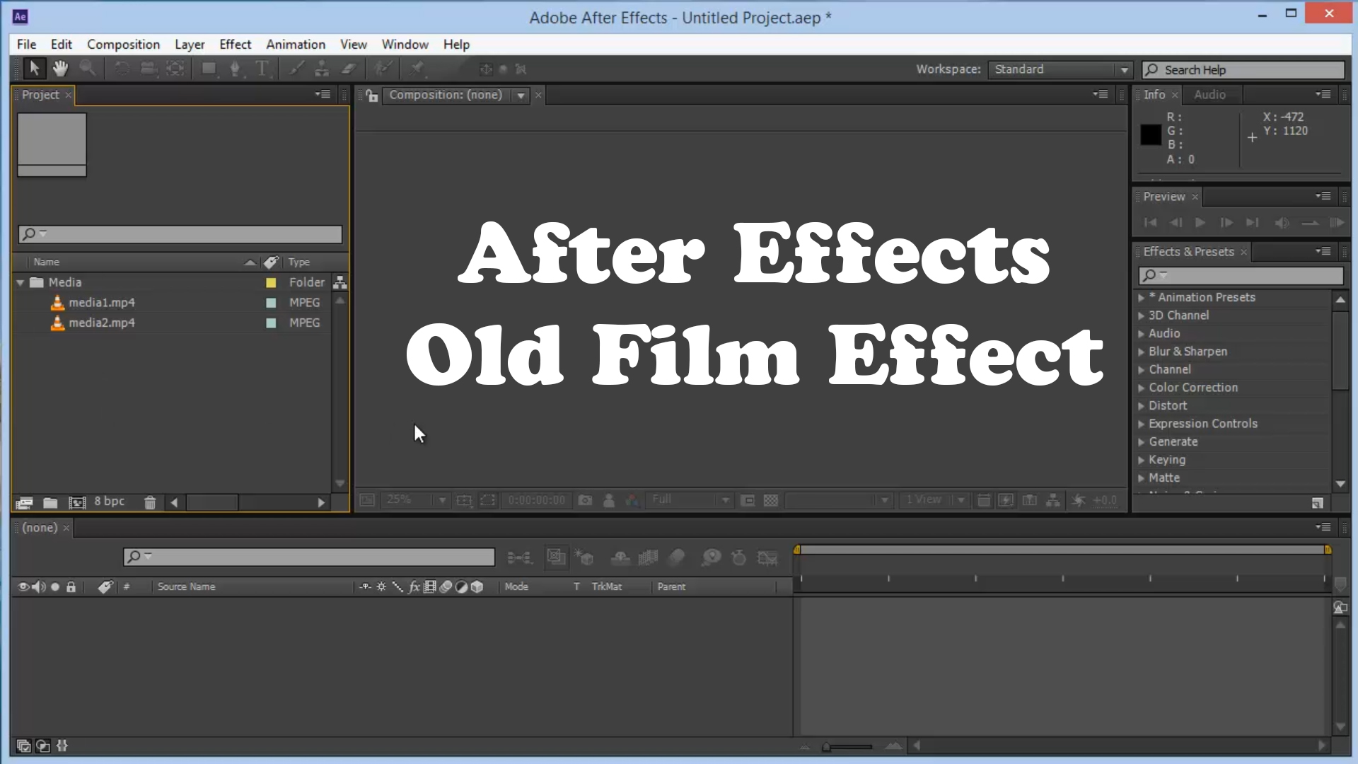 After Effects – Old Film Look