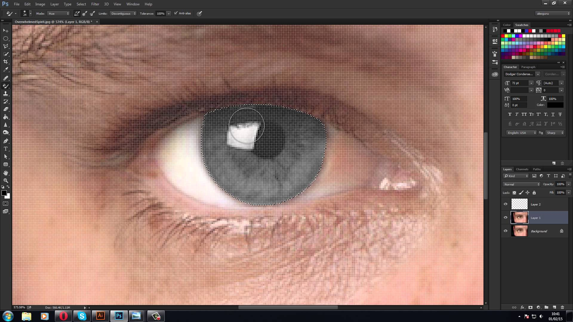 Cum aplicam efectul sharingan in Adobe Photoshop