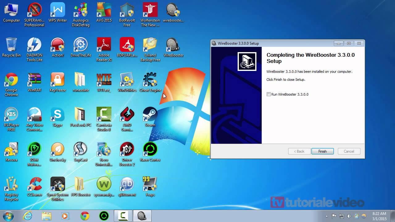 WireBooster optimizare viteza de descarcare in functie de configuratia hardware pentru clientul P2P