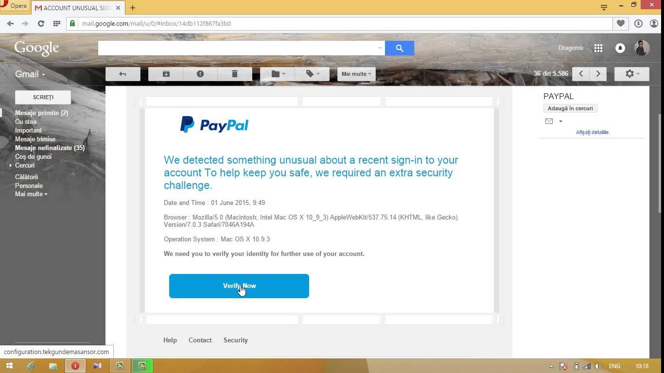 Atentie la frauda Paypal