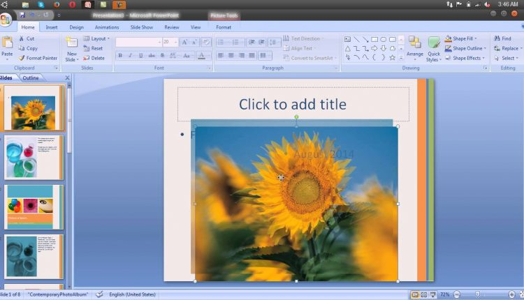 Modificarea aspectului unui diapozitiv in Microsoft Powerpoint