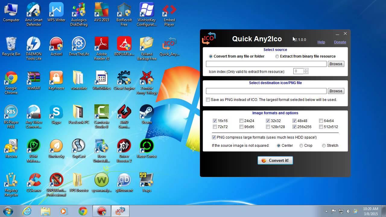 Quick Any2ico program de extras si transformat imaginile in iconite