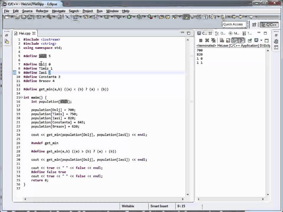 Tutoriale Video C++ despre keyword-ul define