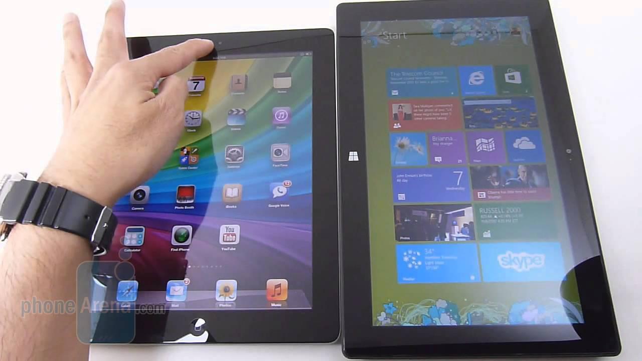 Apple iPad 4 vs Microsoft Surface RT
