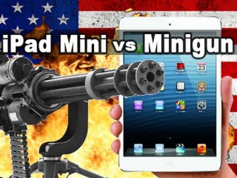Cum se distruge un ipad mini folosind un machine gun
