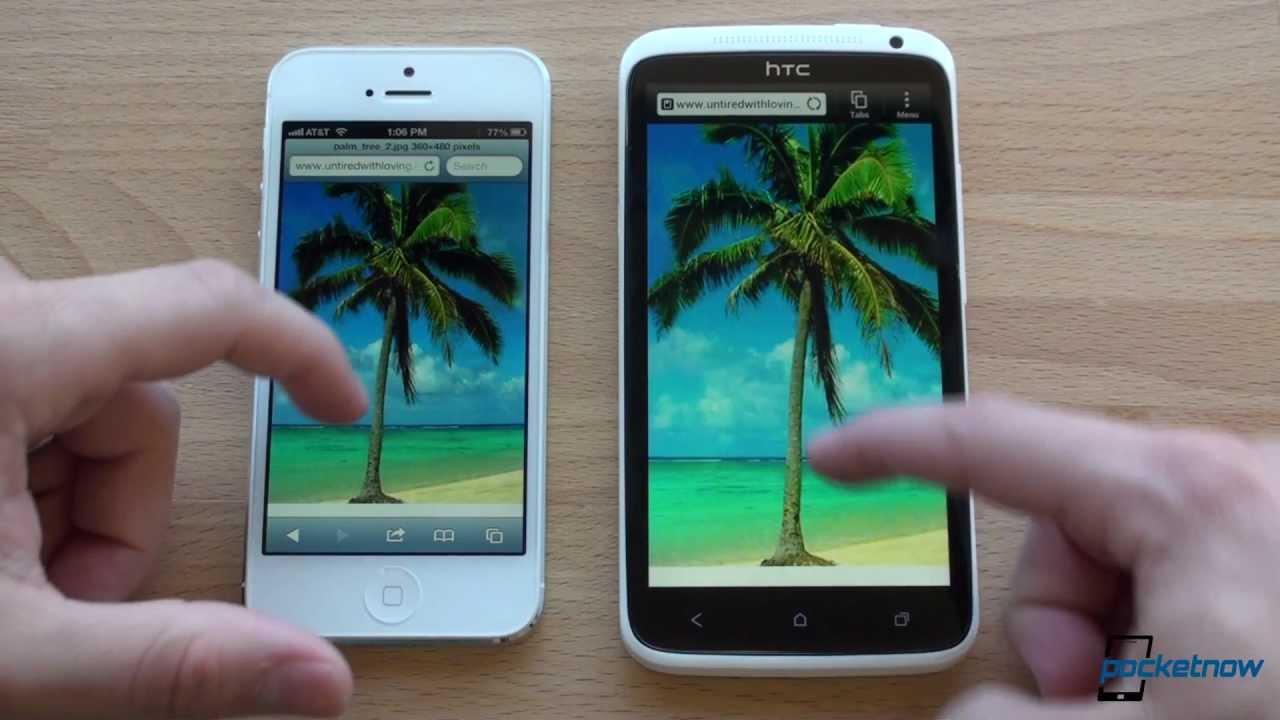 HTC One X Vs iPhone 5