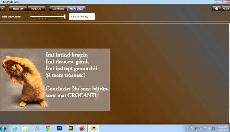 JMC Photo Gallery un program pentru generare slideshow sau videoclipuri din imagini