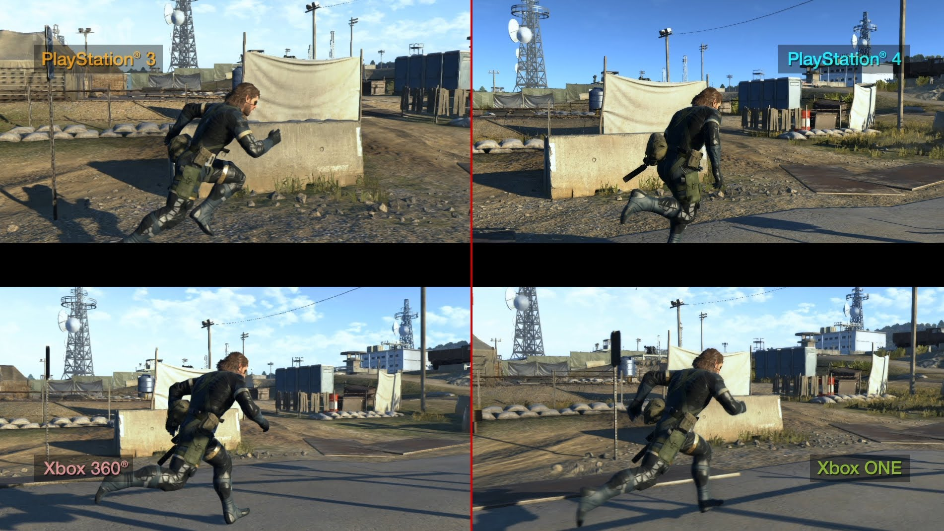 Metal Gear Solid: Ground Zeroes- Comparatie De Grafica