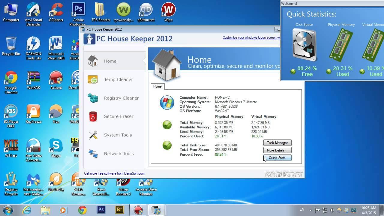 PC House Keeper un program pentru mentenanța calculatorului