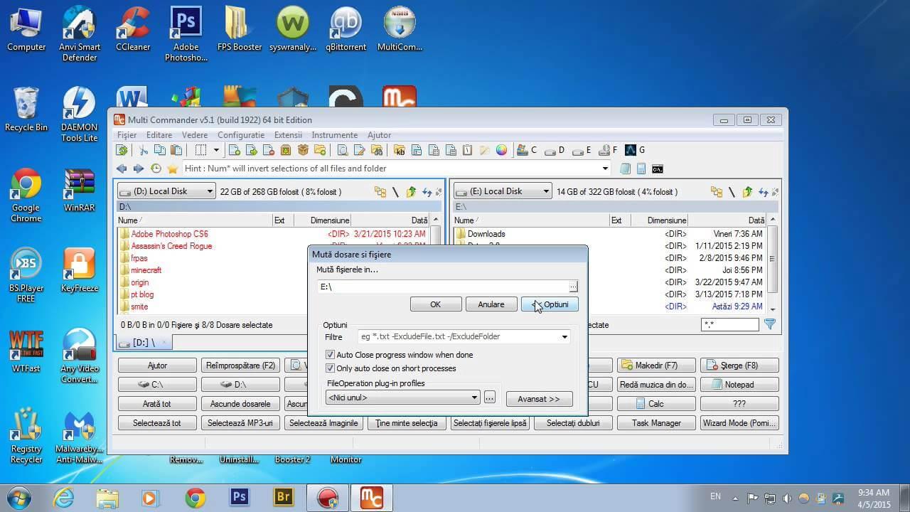 Program pentru explorarea computerului