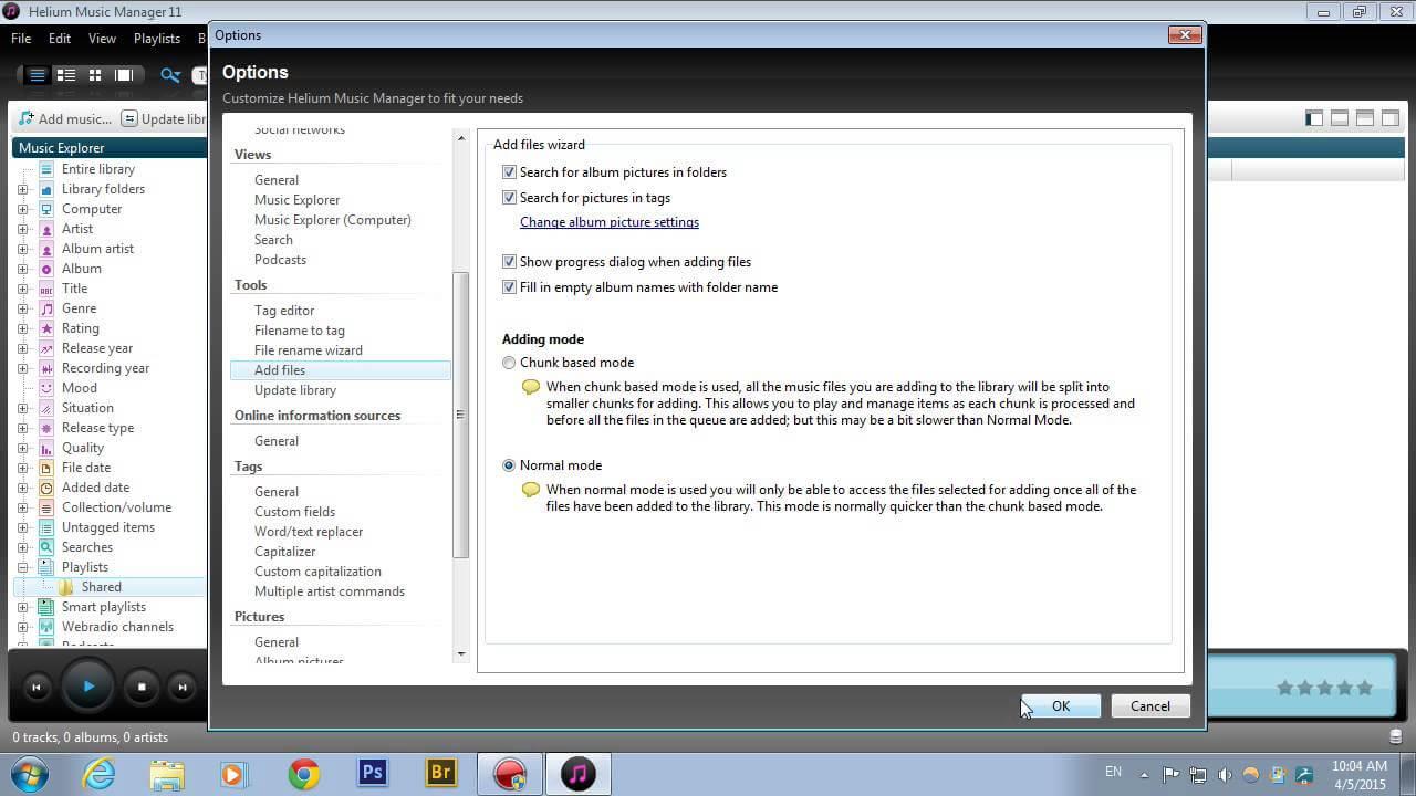 Program pentru redarea și editarea fișierelor audio