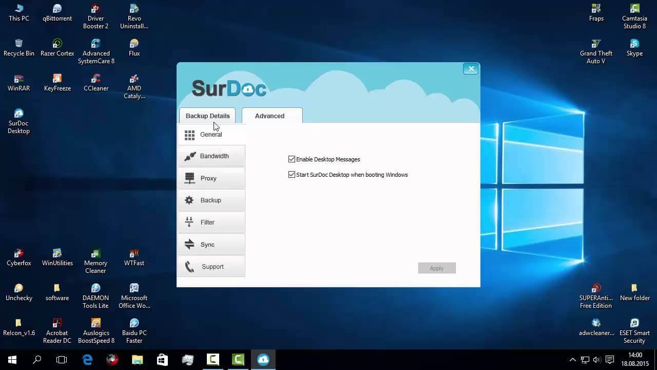SurDoc 100GB spațiu de stocare online gratuit, pentru backup și sincronizare