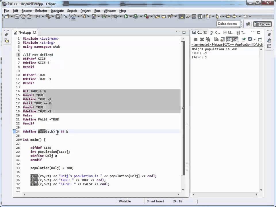 Tutoriale Video C++ Romana despre keywordul define nr. 24