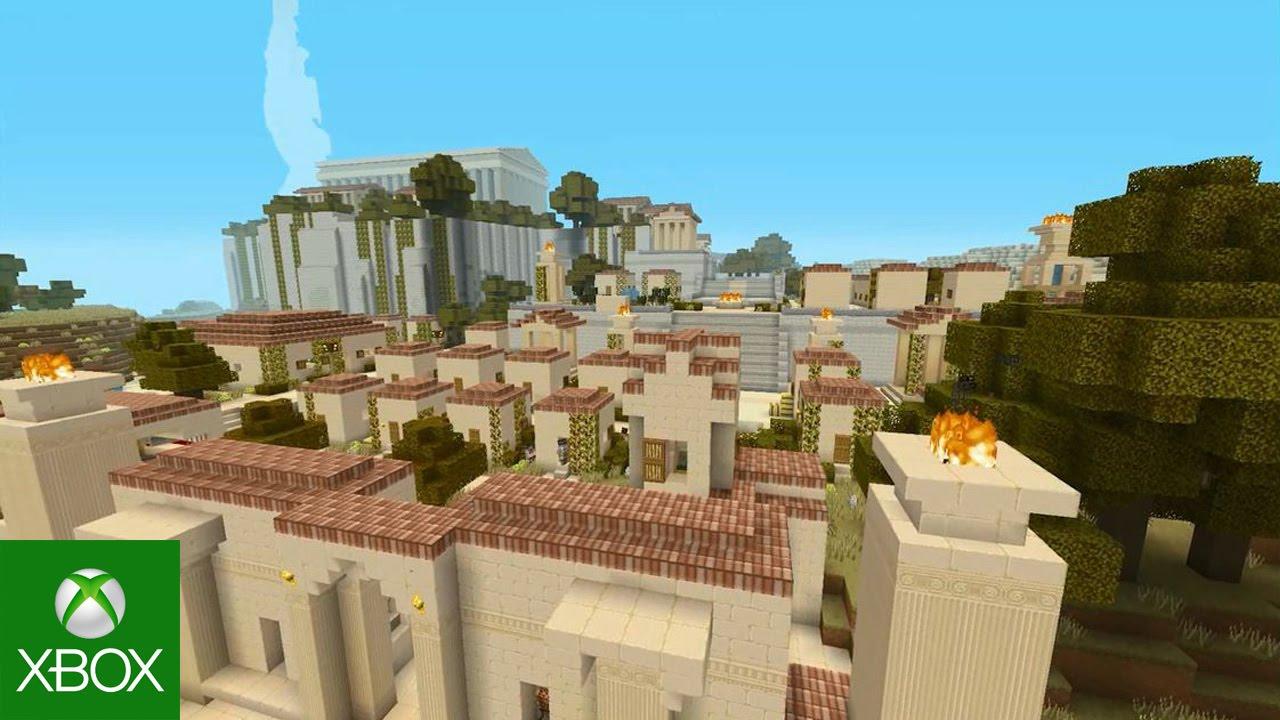 (VIDEO)Minecraft pe Console va primi un DLC cu tenta de Mitologie Greaca