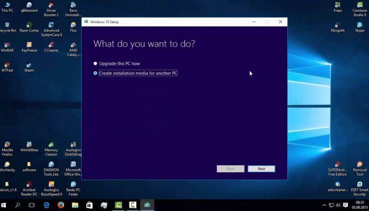 Windows 10 instalare