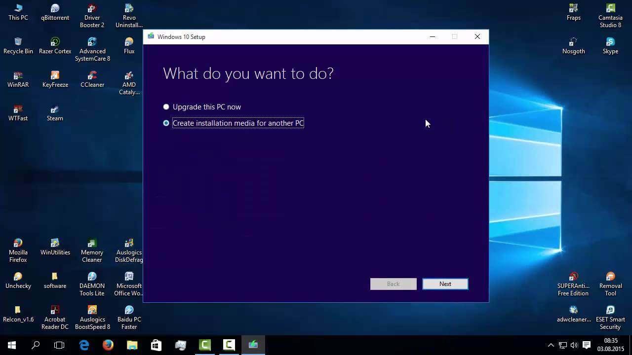 Windows 10 instalare