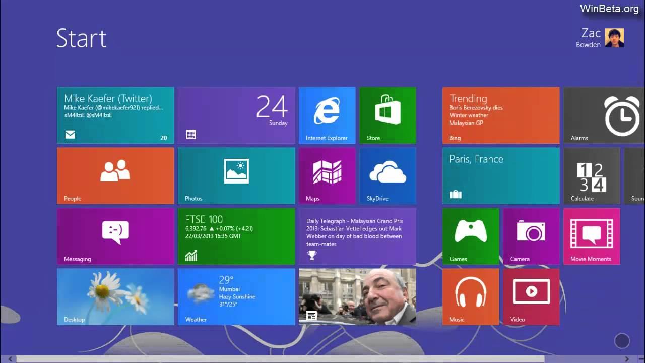 Windows Blue,urmatoarea versiune de Windows in imagini si video