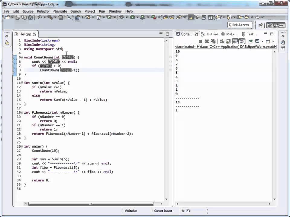 Curs c++ In Limba Romana despre recursivitate nr. 31