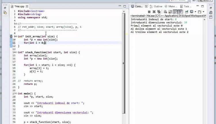 Curs C++ Romana tutorial despre heap nr. 30