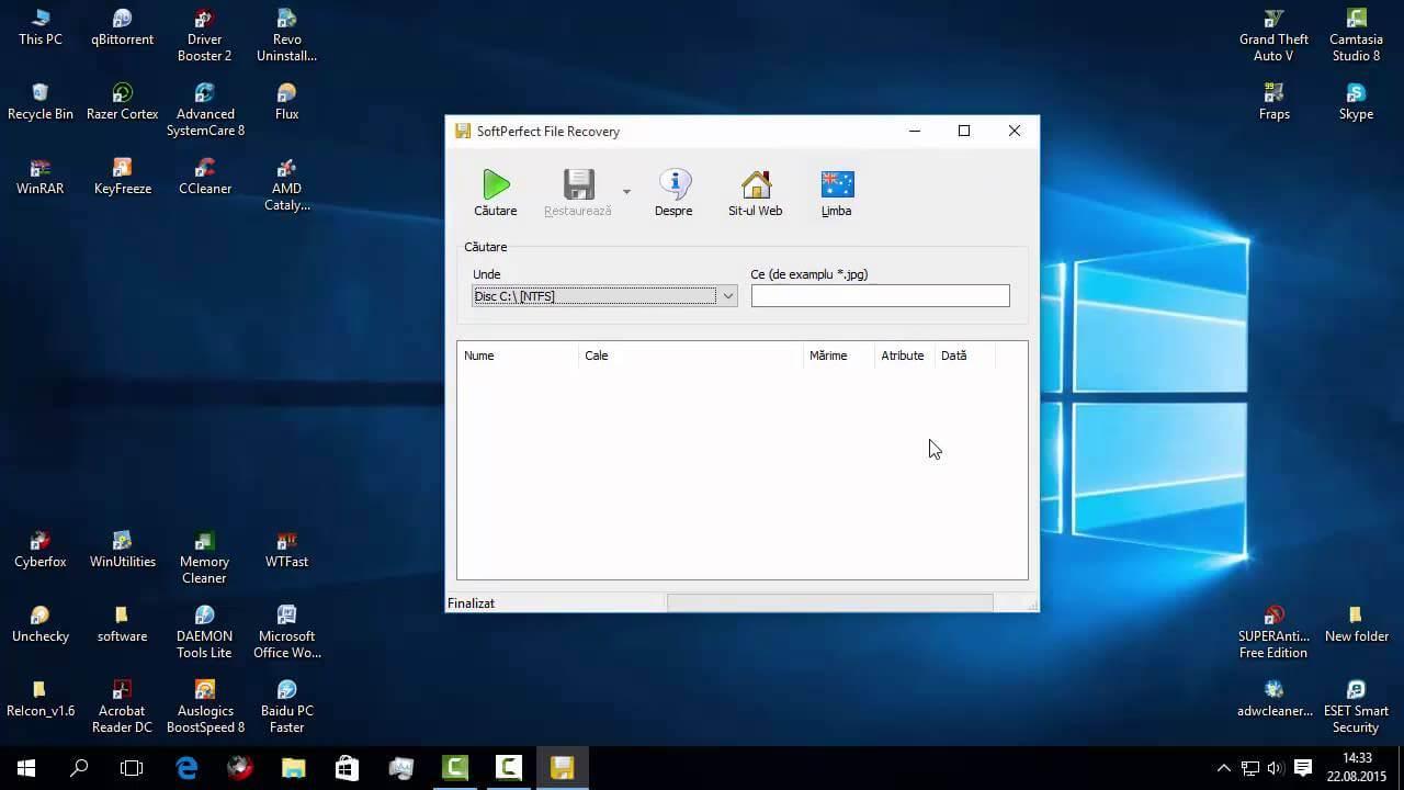 Recuperarea fisierelor șterse sau pierdute folosind SoftPerfect File Recovery