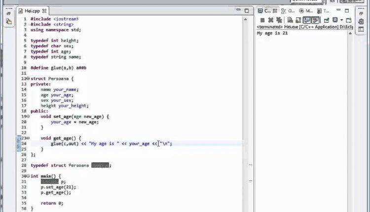 Tutoriale Video C++ despre keyword-ul typedef nr 25